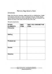 English Worksheets: Memory Bag