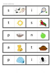 First Letter Sound Dominoes Satpin For Use With Jolly Phonics Book 1 Esl Worksheet By Teachertonyinchina