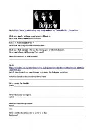 English Worksheets: The Beatles : webquest