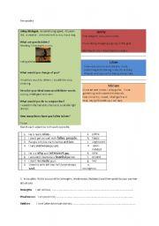 English worksheet: Personality
