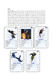 English Worksheets: Top Trump Cards - Marvel Heroes 3-3