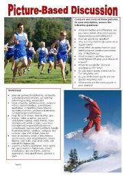 English Worksheet: Picture-Based Discussion (29): Sports