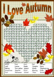 I LOVE AUTUMN PUZZLE