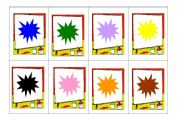 English Worksheets: Memory colours game