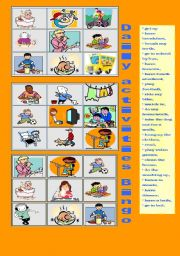 English Worksheets: Daily Activities Bingo
