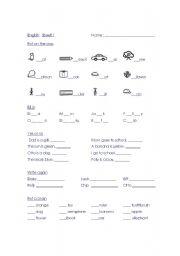 English Worksheets: English Year 2