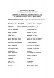 English Worksheets: Indispensable Phrases