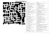 English Worksheets: Human Character-Crossword