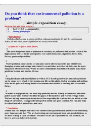 Dialectical Essay English Worksheet How To Write A Simple Exposition Essay About The  Environemnt Essay On Independence Day Of Pakistan also Essay On Manifest Destiny How To Write A Simple Exposition Essay About The Environemnt  Esl  Quote Essays
