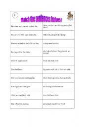 English Worksheet: Ancient Egypt - Daily life