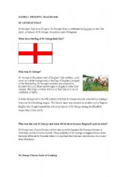 English Worksheets: St George�s Day