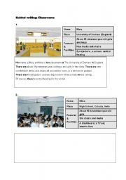 English Worksheets: Classrooms - Guided Writing