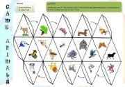 English Worksheet: game animals