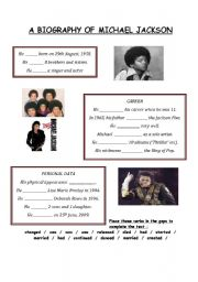 English Worksheets: A Biography of Michael Jackson