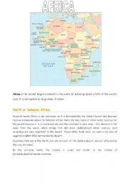 English Worksheets: Africa