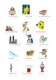 English Worksheet: ADJECTIVES with Yes/No Questions-2