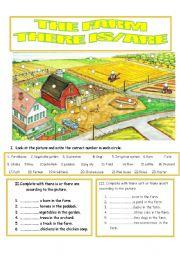 English Worksheet: The farm
