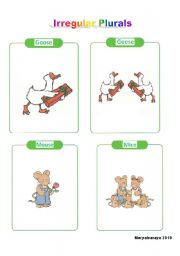 English Worksheets: Irregulars Plurals 4/5