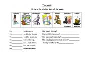 English Worksheets: Day�s of the week