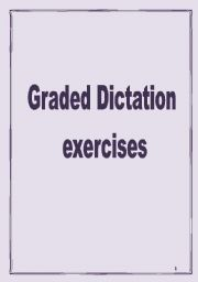 English Worksheets: Graded Dictations