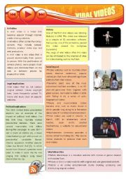 English Worksheet: Viral videos