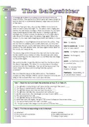 English Worksheet: Urban legends: The Babysitter