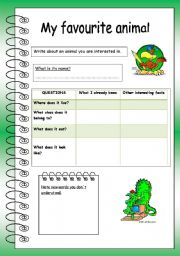 English Worksheets: My favourite animal