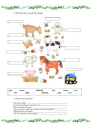 Animals and pets 2 - ESL worksheet by xikillax
