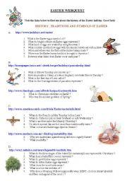 English Worksheet: EASTER  Webquest