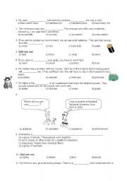 English Worksheet: 8th grade sbs