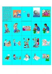 English Worksheets: Phrasal Verb Memory Game