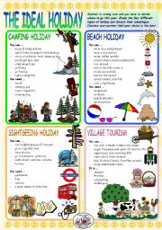 English Worksheet: THE IDEAL HOLIDAY