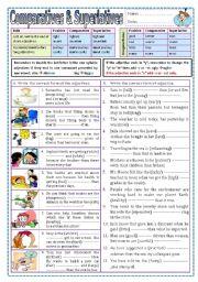 English Worksheets: Comparatives & Superlatives