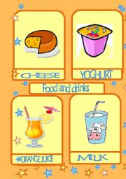 English Worksheet: FOOD AND DRINKS-flashcards- 3/3