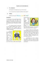 English Worksheet: �Gestures around the World�.