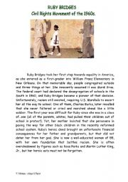 English Worksheet: FACT FILE for Painting Norman Rockwell  Segregation at school