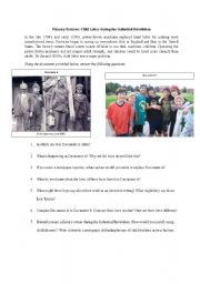 English Worksheets: Primary Sources: Child Labor during the Industrial Revolution