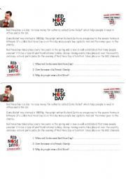 English Worksheet: RED NOSE DAY