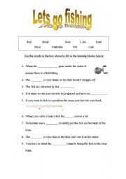 English worksheets: Lets go fishing!