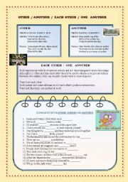 English Worksheet: Other / another / each other / one another