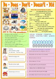 Auxiliary Verbs - B/W included