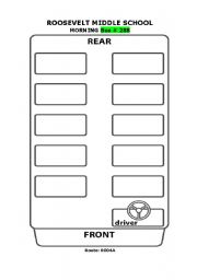 english worksheets special ed school bus seating chart
