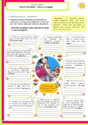 English Worksheet: Reported Speech - Statements