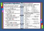 English Worksheet: Superlative adjectives