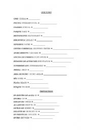 English worksheet: In the town