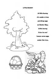 English Worksheets:  Little Bunny