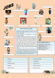 English Worksheets: Jobs abd Daily Routine