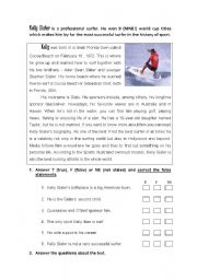 English Worksheets: Surfing