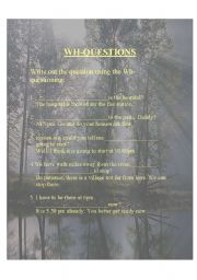 English Worksheets: The Wh-Qurstions