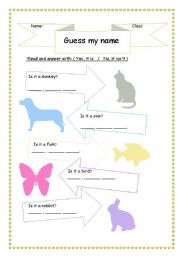 English Worksheets: yes it is/No, it isn�t
